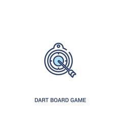 Dart board game concept 2 colored icon simple vector