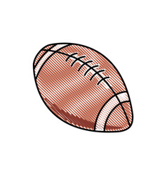 Drawing american football ball sport competition vector