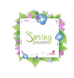 Floral spring banner vector