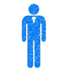 Gentleman grunge icon vector