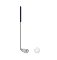 golf club icon isolated on white background flat vector image