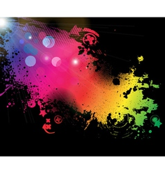 Grunge colorful background vector