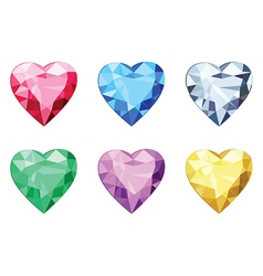 Heart shaped brilliants no gradients vector