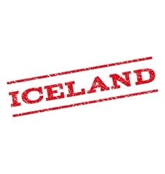 Iceland Watermark Stamp vector