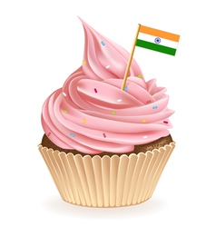 Indian Cupcake vector image