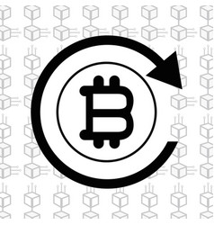 Line icon bitcoin money currency vector