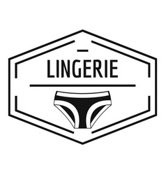 lingerie body logo simple black style vector image
