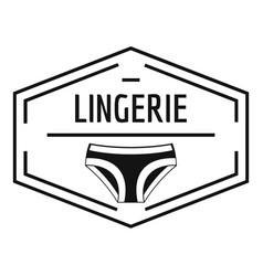 lingerie body logo simple black style vector image