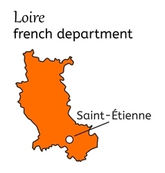 Loire french department map vector image