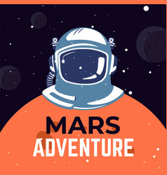 Mars adventure outer space exploration in universe vector