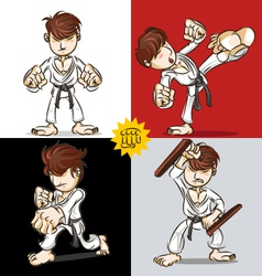 Martial Art Karate vector image