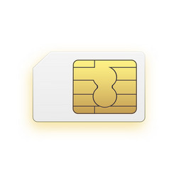 mini sim mobile cellular phone sim card vector image