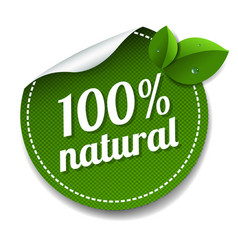 Nature label isolated white background vector