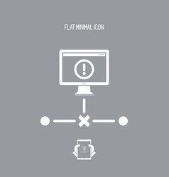 Network error - flat minimal icon vector