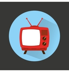 Old tv device icon vector