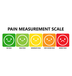 Pain measurement scale or pain assessment tool vector