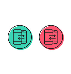phone communication line icon incoming call vector image