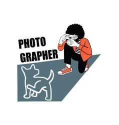 Photographer t-shirt design vector