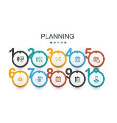 Planning infographic design template calendar vector