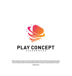 Play tornado logo design concept fast play logo vector