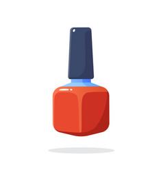 red nail polish vector image