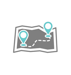 route icon on white background for graphic and web vector image
