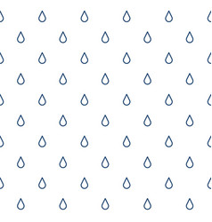 seamless pattern with drops rain vector image