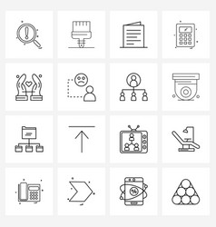 Set 16 ui icons and symbols for love vector