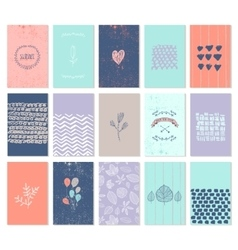 Set art cards use for wedding vector
