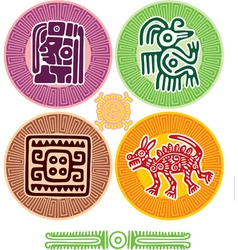 set mexican design elements vector image