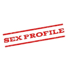 Sex Profile Watermark Stamp vector image