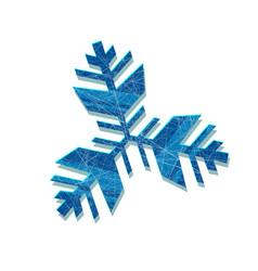 snowflake abstract snowflake geometric vector image