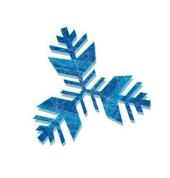 snowflake abstract snowflake of geometric vector image