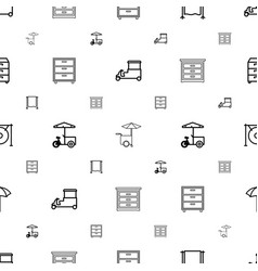 stand icons pattern seamless white background vector image