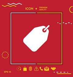 tag symbol icon vector image