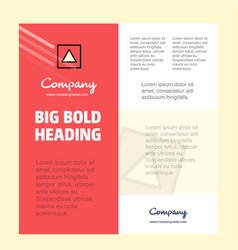 traingle shape business company poster template vector image
