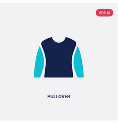 Two color pullover icon from clothes concept vector