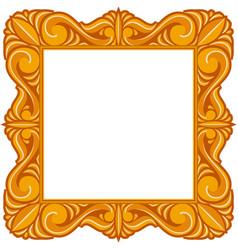 vintage picture or portrait frame auction icon vector image