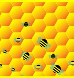 Watercolors honey symbols honeycomb beehive spot vector