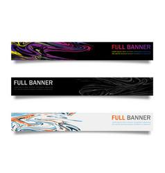 web banner set design for website vector image