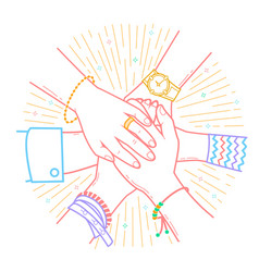 concept of friendship and support vector image