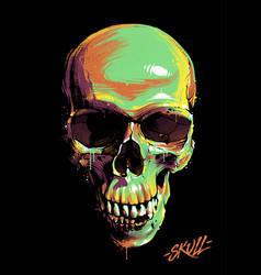 Paint graffiti skull vector