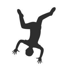 Parkour trick people extreme sport cartoon vector image vector image