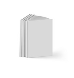 stack of gray books on white background mockup vector image vector image