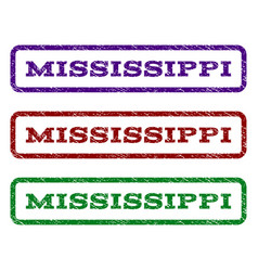 mississippi watermark stamp vector image