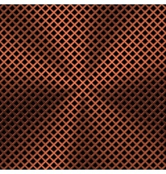 Background with Lozenge Pattern and Bronze Texture vector image