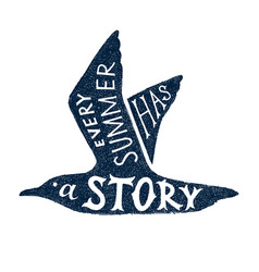 every summer has a story - hand drawn lettering vector image vector image