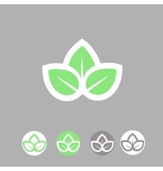 Green leaves ecology symbol template logo design vector image