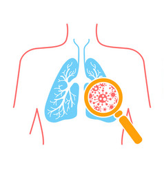 icon of lung pneumonia vector image vector image
