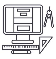 web designart design line icon sign vector image
